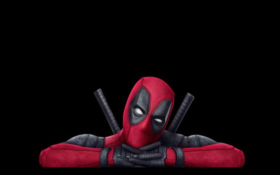 Deadpool, black, red