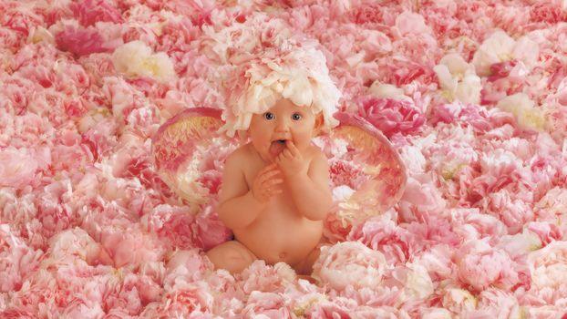 Kisenok рулит, дети, ребенок, младенец, младенцы, маленький, грудничок, груднички, малыш, малыши, девочка, цветы