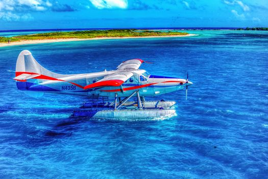 seaplane, Dry Tortugas, Natonal park, Florida, USA