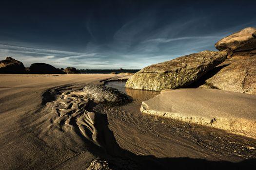 Kisenok рулит, река, водоем, песок, берег, камни, небо, пейзаж