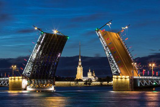 Palace bridge, petersburg, Russia