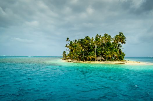Panama, island, beach, sea, Palms, landscape
