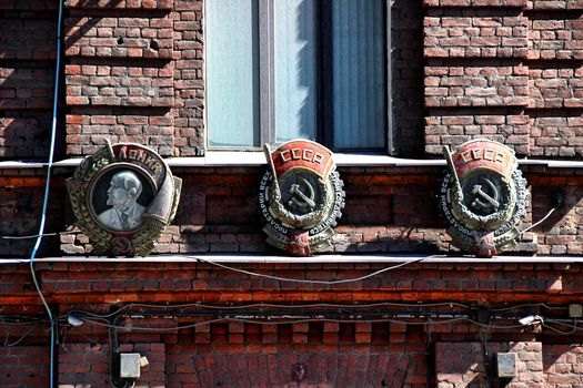 architecture, window, Order, bricks, house, St. Petersburg, Leningrad, Peter, Russia, the USSR, Lenin, factory