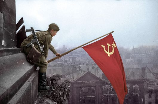 Berlin 1945, Reichstag, Victory, Banner of Victory, Russian soldier