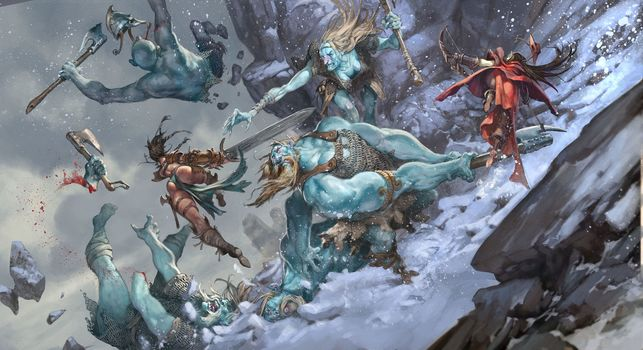 Jesper Ejsing, Pathfinder Adventure, Ice Tomb of the Giant Queen, battle