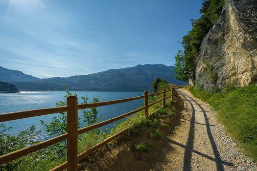 Riva Del Garda, Italy, water, road, rock, landscape