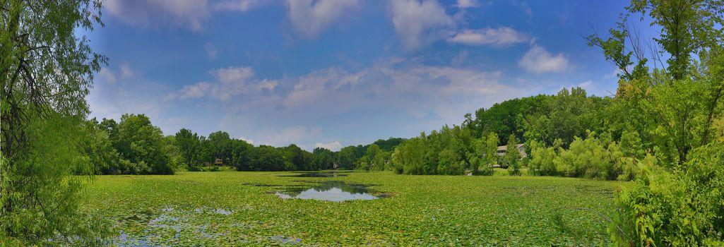 Крыло озеро, озеро, Миннесота, вид