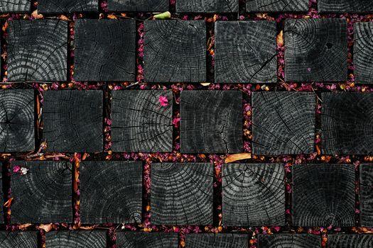 квадраты, деревяшки, листочки, лепестки, цветки, текстура