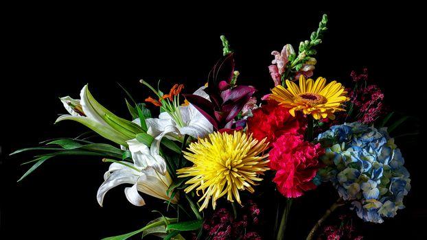 цветы, букет, флора
