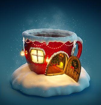 новый год, Новогодний фон, Новогодние обои, С новым годом, новогодний клипарт, новогоднее настроение, домик кружка