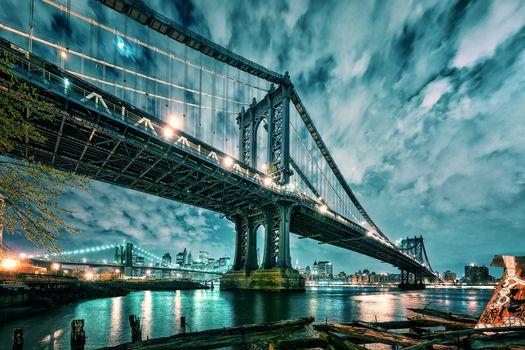Манхеттен, Бруклинский мост, Манхэттен и Бруклинский мост, Нью-Йорк