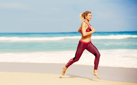 girls, activewear, running, fitness, summer, blonde, leggings