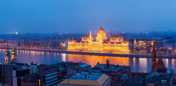 Budapest, Budapest, Hungary, Budapest Parliament Night