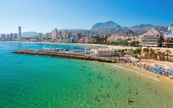 Benidorm town, Alicante, Spain