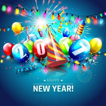 New year wallpapers, Christmas background, Happy New Year, 2017, new year 2017, date