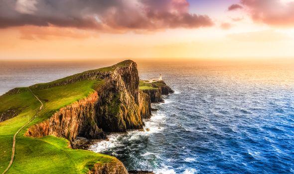 Остров Скай, Шотландия, Великобритания, закат, море, пейзаж