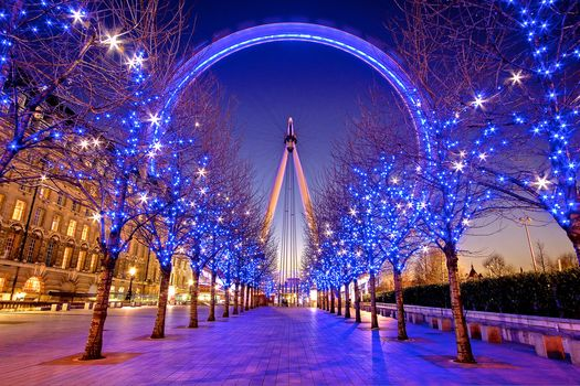 United Kingdom, London, South Bank, winter, London, England