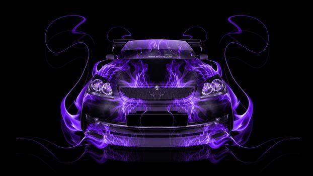 Фиолетовое пламя. Анфас (16:9)