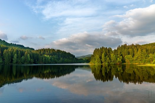 Wald, lake, water, reflection, Germany