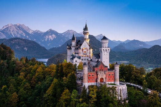 Germany, Neuschwanstein Castle, Tegelberg, Bavaria, Bayern