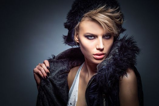 girl, girls, makeup, face, cosmetics, style, glamor, beauty, model, beautiful make-up, beautiful girl, mood, clothes