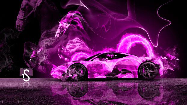 Розовое пламя. Профиль (16:9)