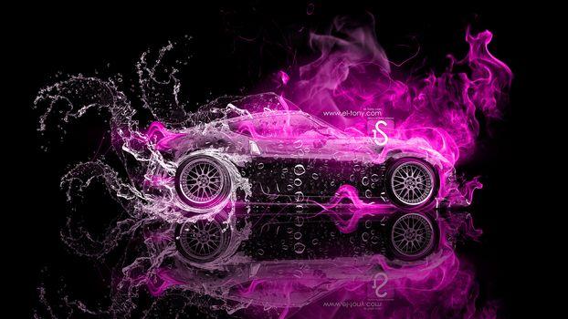 Розовое пламя. Профиль-2 (16:9)