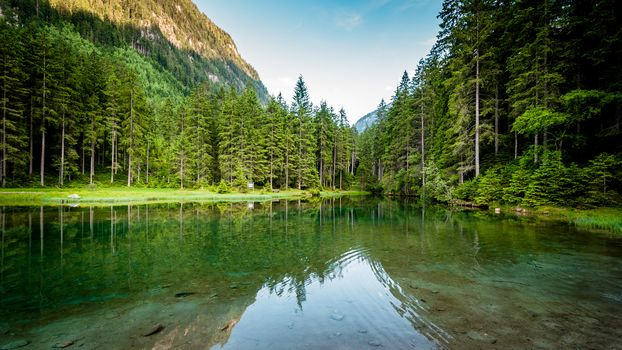 Blausee, Pinzgau, Austria, lake, forest, trees, landscape