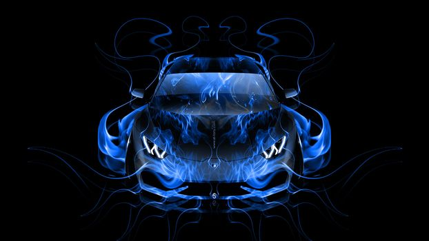 Синее пламя. Анфас -2 (16:9, 30 шт)