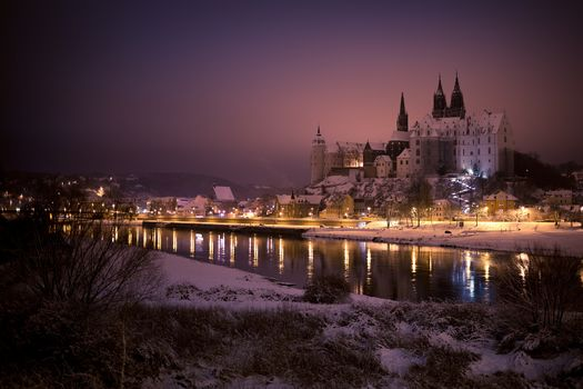 Albrechtsburg, Albrechtsburg castle, Meissen, Germany, night