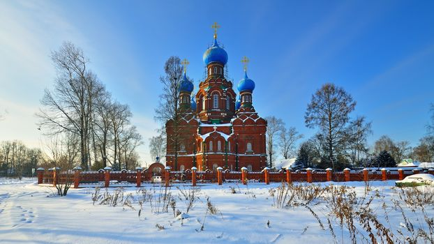 church, Cathedral, Cover, Cherkizovo, frost, Russia, Pokrovskaya Church, Church of the Intercession of the Holy Virgin in Cherkizovo, winter