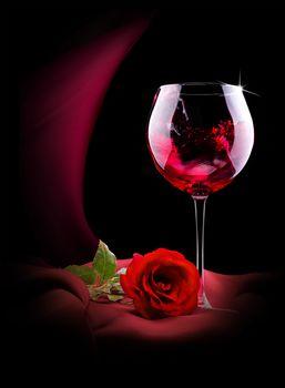 Valentine's Day, Valentine's Day, Happy Valentine's Day, Happy Valentines Day, Valentine, Valentine, romance, wine, stemware