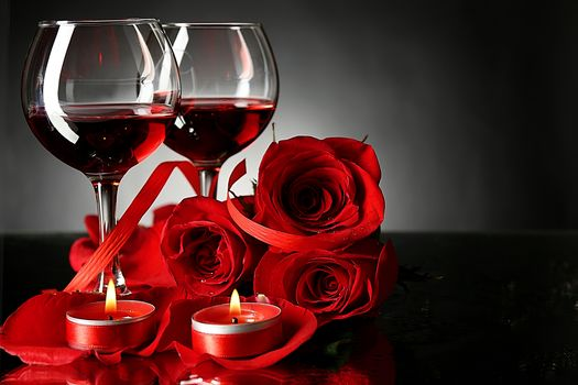 Valentine's Day, Valentine's Day, Happy Valentine's Day, Happy Valentines Day, Valentine, Valentine, romance, wine, stemware, candles