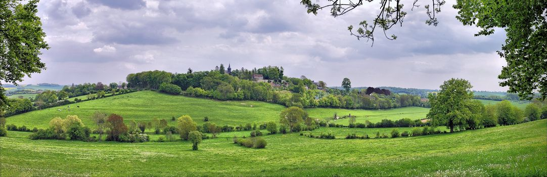 Jerberwa, France, fields, hills, at home, trees, landscape, view