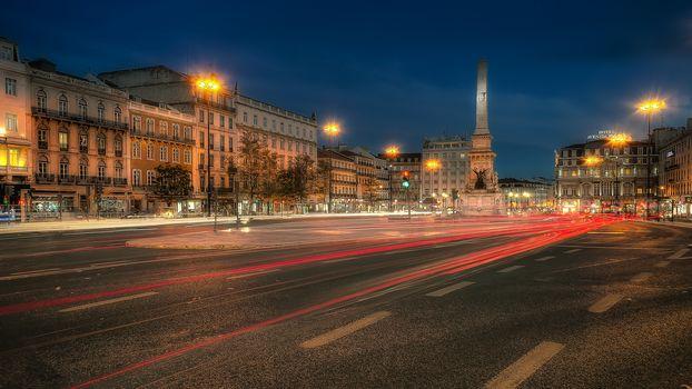 Lisbon, Portugal, Lisbon, Portugal, city, night