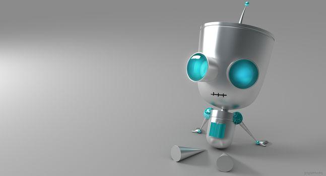 3d, art, robot