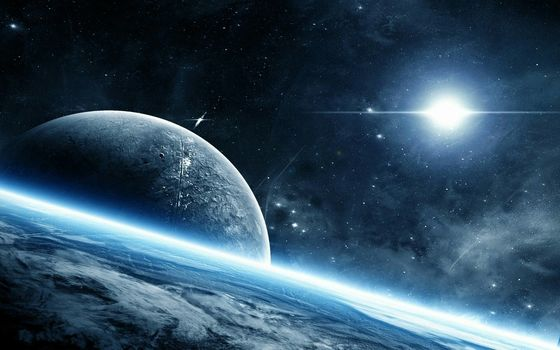 space, planet, Vast expanses of space, universe