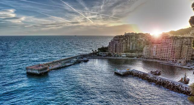 Monaco, sea, city, Monaco