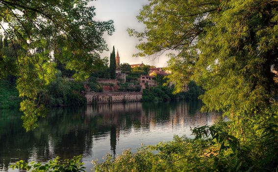 The idyllic shores of the Tarn River, Alba, France