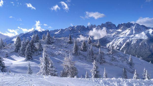 Brenta Dolomites, Dolomiti di Brenta,, Italy, winter, the mountains, landscape