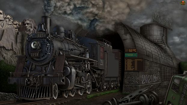 Moscow, locomotive, the mountains