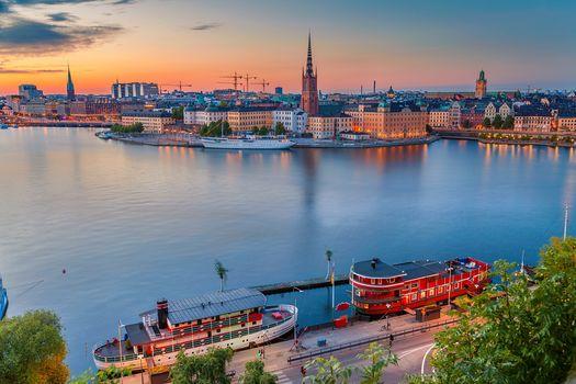 Stockholm, Sweden, sunset