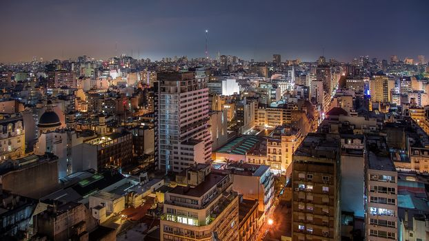 Buenos Aires, Argentina, city, night, lights
