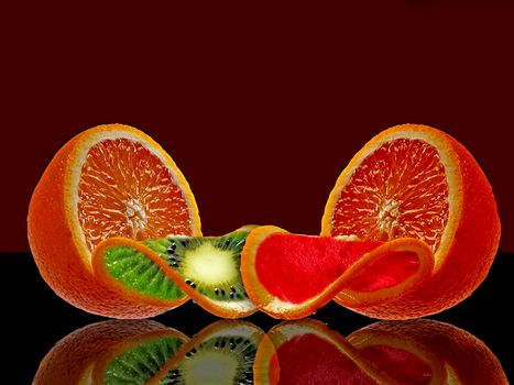 photoshop, orange, fruit, food