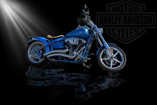 Harley, motorcycle, Harley dэvidson