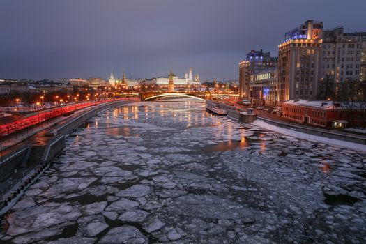 Moscow, Moscow City, Moscow-river, Russia