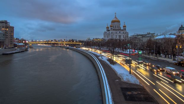Moscow river embankment