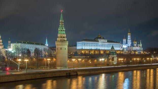The Moscow Kremlin (Russian Моско́вский Кремль