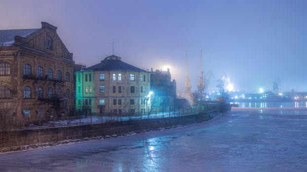 Winter fog, St. Petersburg