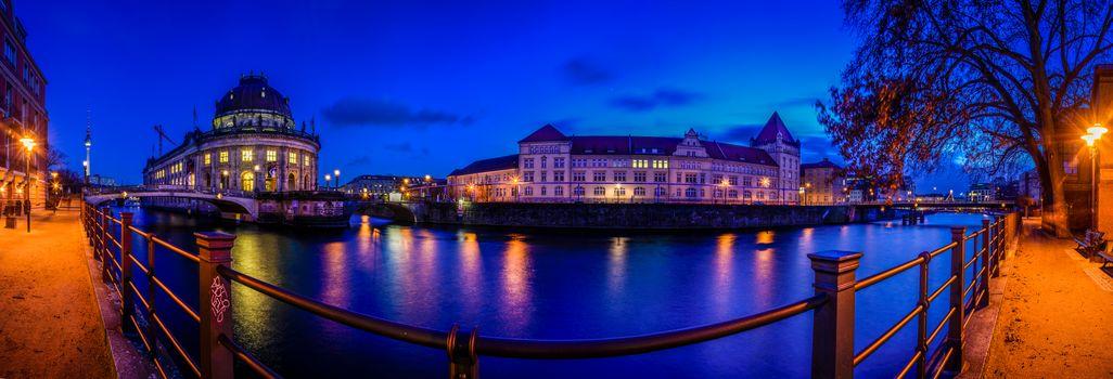 Berlin, Germany, night, view